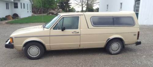1981 vw rabbit diesel pickup w topper for sale in conrad iowa. Black Bedroom Furniture Sets. Home Design Ideas