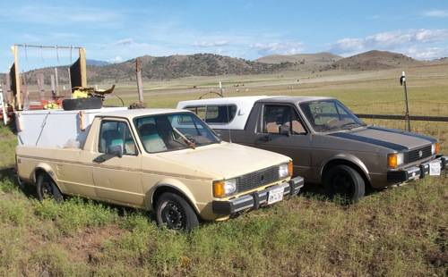 two 1982 vw rabbit diesel pickups truck for sale montague california. Black Bedroom Furniture Sets. Home Design Ideas