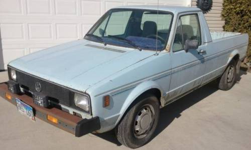 1980 vw rabbit pickup truck gas automatic for sale in bastrop texas. Black Bedroom Furniture Sets. Home Design Ideas