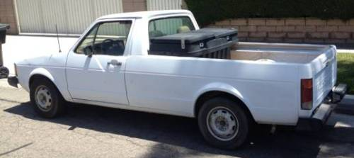 1981 vw rabbit truck caddy diesel 1 6l for sale in anaheim california. Black Bedroom Furniture Sets. Home Design Ideas