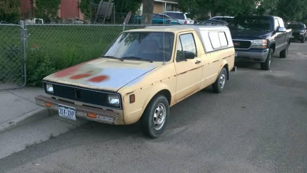 1980 volkswagen rabbit v4 pickup truck for sale colorado springs co. Black Bedroom Furniture Sets. Home Design Ideas