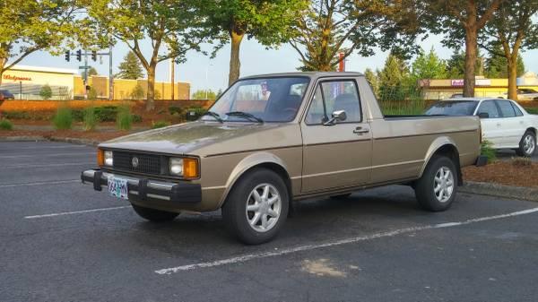 1981 Volkswagen Rabbit 1.6L Diesel Pickup Truck For Sale ...