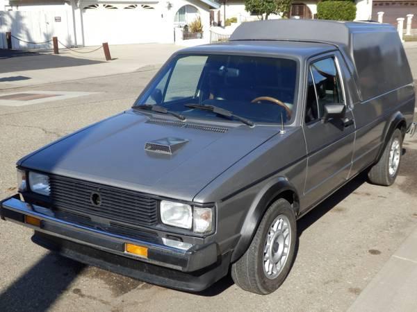1981 volkswagen rabbit 1 9 tdi pickup truck for sale grover beach ca. Black Bedroom Furniture Sets. Home Design Ideas