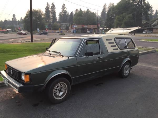 1981 volkswagen rabbit diesel manual pickup truck for sale spokane wa. Black Bedroom Furniture Sets. Home Design Ideas