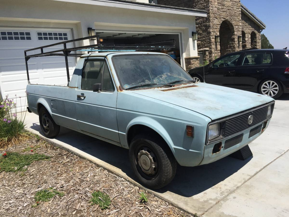1980 volkswagen rabbit manual pickup truck for sale inland empire ca. Black Bedroom Furniture Sets. Home Design Ideas