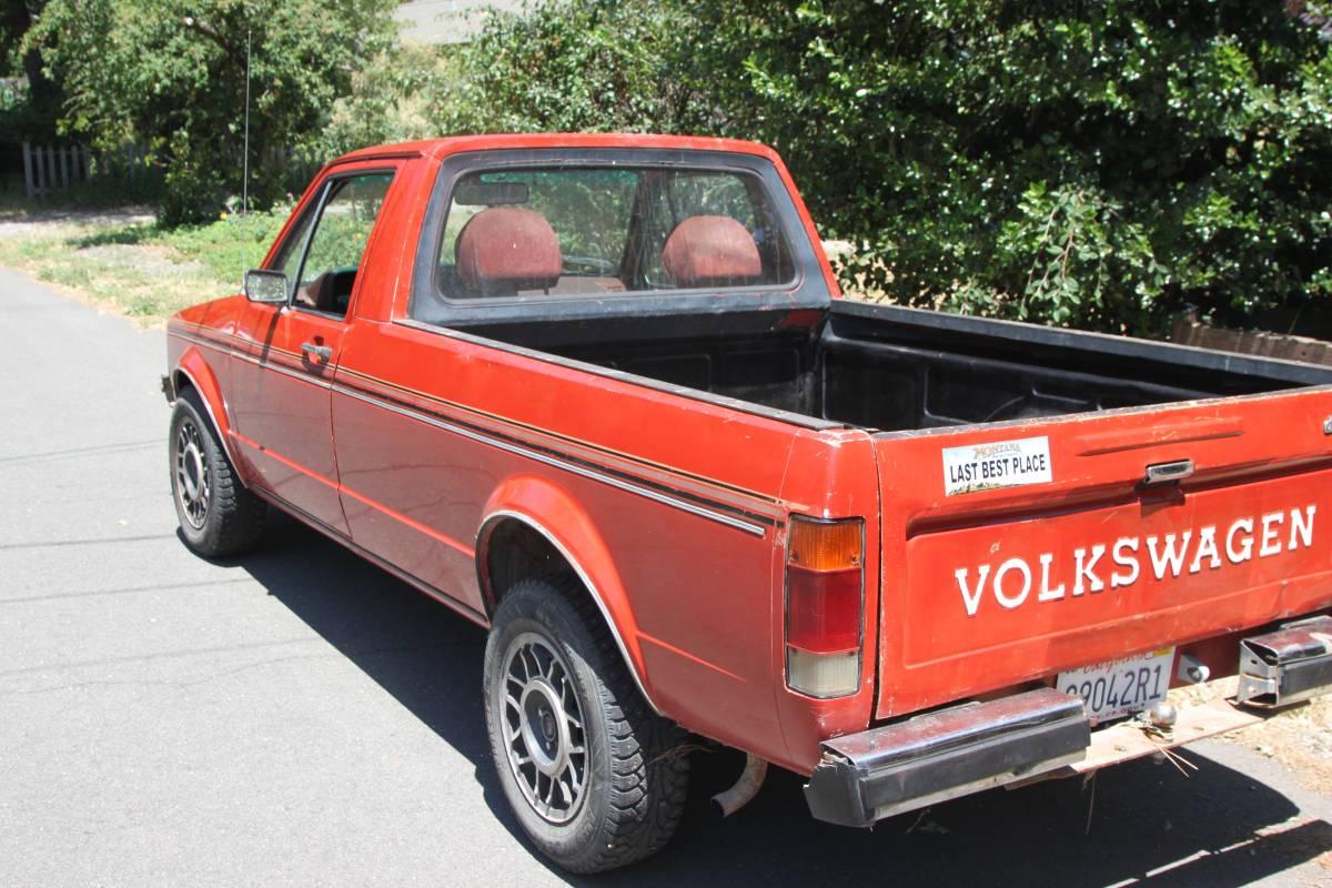1981 VW Rabbit Pickup Turbo Diesel 5 Spd For Sale in Grass ...